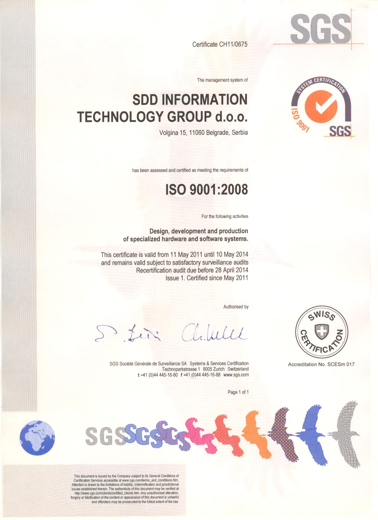 Implementation of ISO 9001 2008